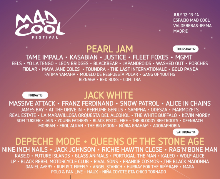 Mad Cool Festival Sounds Like It Will Live Up To Its' Name