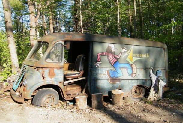 Aerosmith's Old Van Has Been Discovered In A Forest In Massachusetts!
