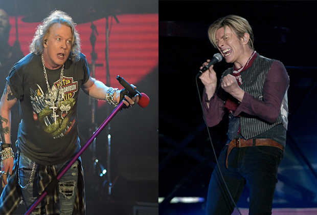 Axl Rose Once Got In A Punch Up With David Bowie Over A Girl!