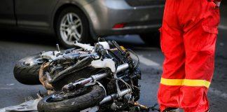 Motorcyclist Hospitalised