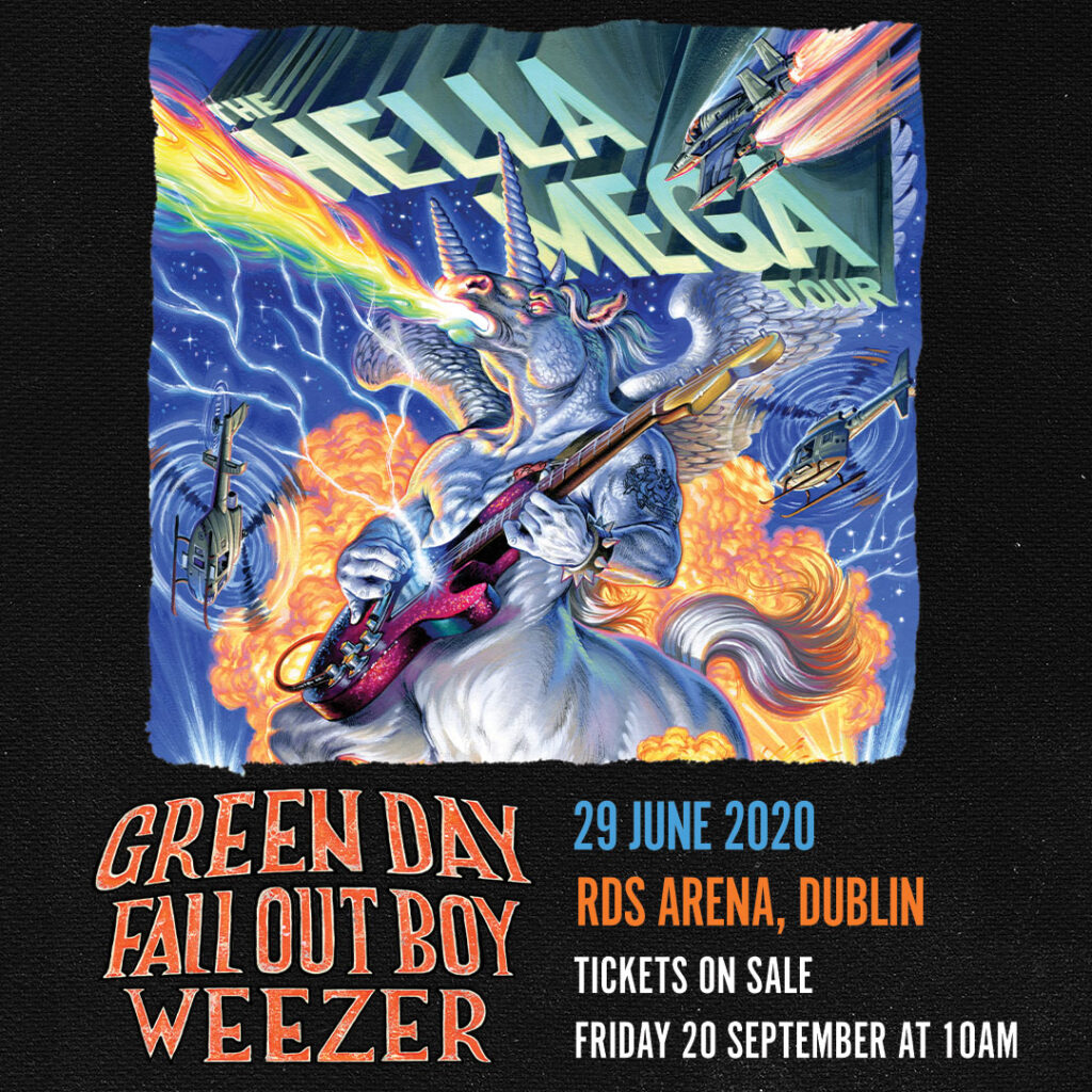 Green Day Tour 2020.Green Day Fall Out Boy Weezer To Play Massive Dublin Gig