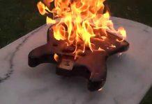 Burning Stratocaster