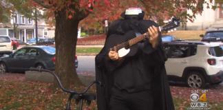 Headless-Horseman-Rides-Bicycle-Plays-Guitar