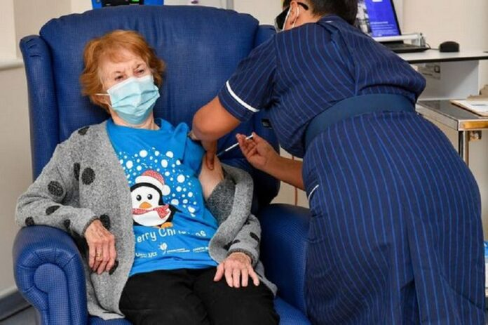 90 Year Old Irish Woman Is World's First Covid Vaccine Recipient