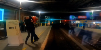 Love Was In The Air Last Night At Pearse Street Dart Station