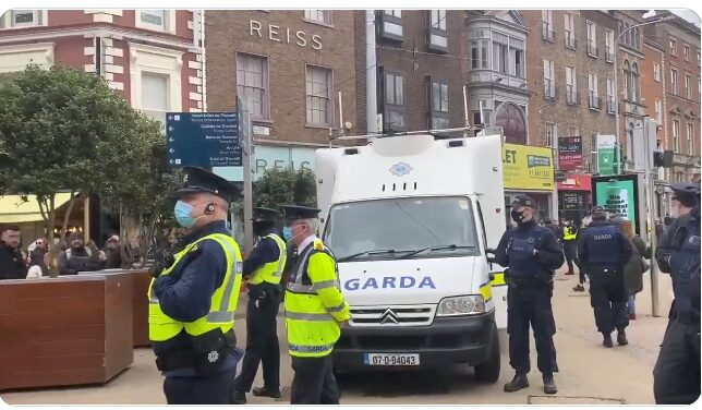 Chaos On Grafton Street After Clashes At Anti Lockdown Protest