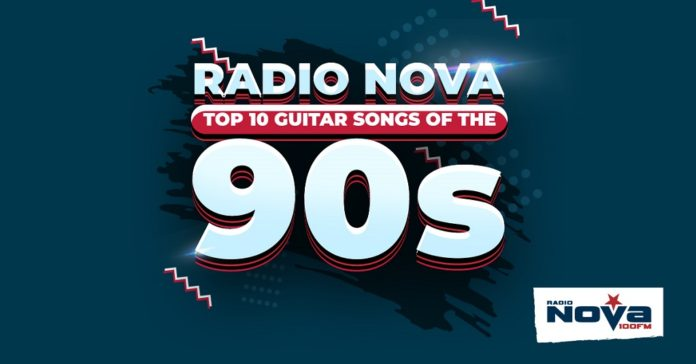 Listen To Radio NOVA's Spotify Playlist: The Top 10 Guitar Songs Of The 90s