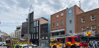 Emergency Services Are Dealing With A Fire On Thomas Street