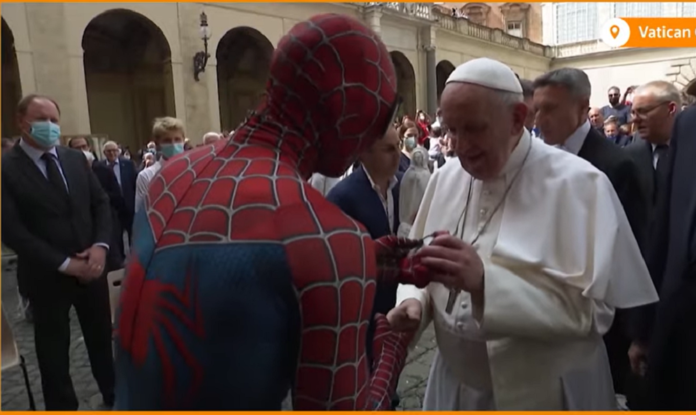 Pope Francis Meets Spider-Man At The Vatican