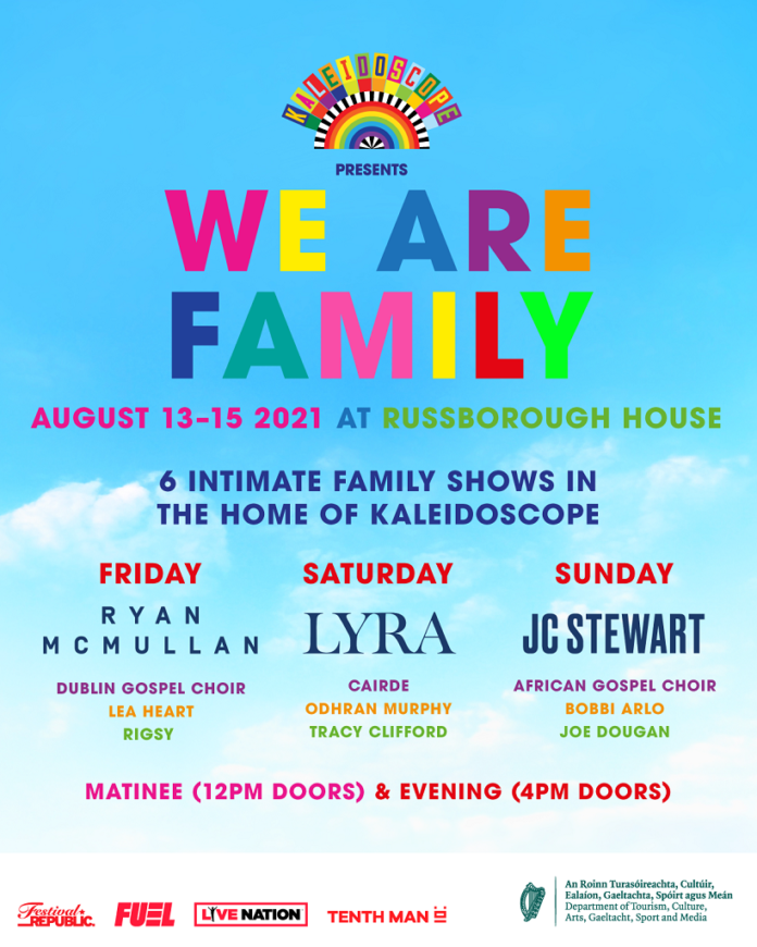 Kaleidoscope Festival Presents 'We Are Family' Live Shows For August