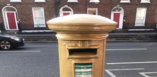 Dublin Post Box Goes Gold For Kellie